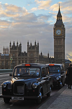 Big Benn und London Cabs